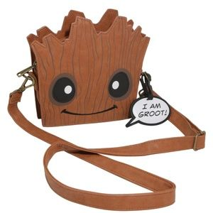 Loungefly I am Groot baby Groot face crossbody bag